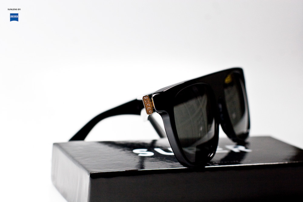 Super Sunglasses Flat Top Black 036 Super 036 Flat Top Black